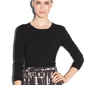 💋 MILLY   Zip Back Pull Over Sweater Top Shirt